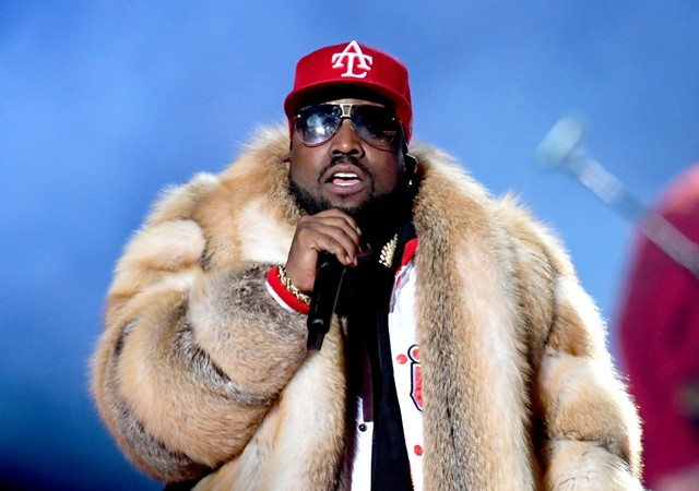Big Boi performing at the Super Bowl Halftime Show in 2019