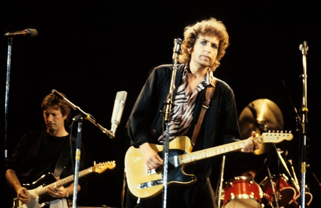 Photo of Bob DYLAN and Eric CLAPTON