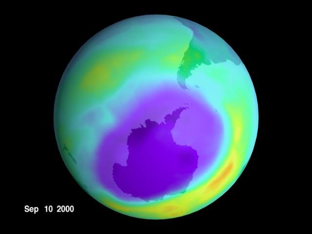 giant ozone layer hole
