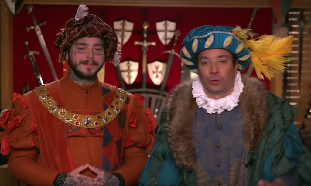 Post Malone and Jimmy Fallon Go To Medieval Times: Watch