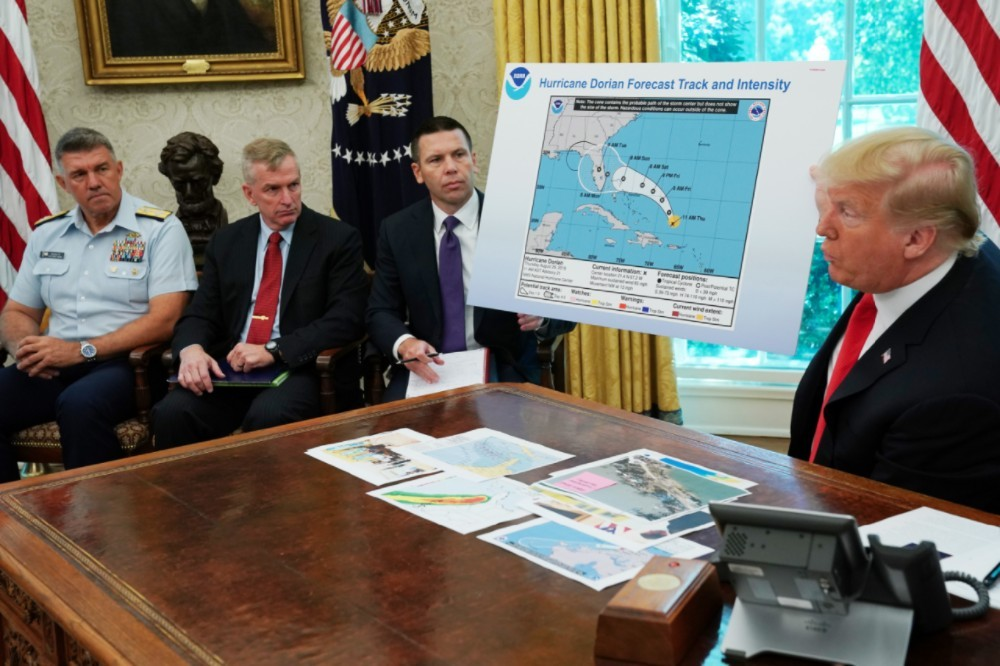 Donald Trump Takes a Sharpie to Hurricane Map So It Includes Alabama