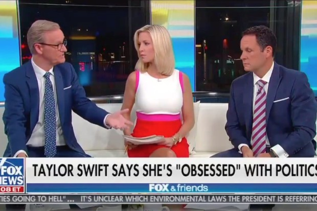 """Fox & Friends Dummies Try to Roast Taylor Swift's """"the Rolling Stones"""" Magazine Interview"""
