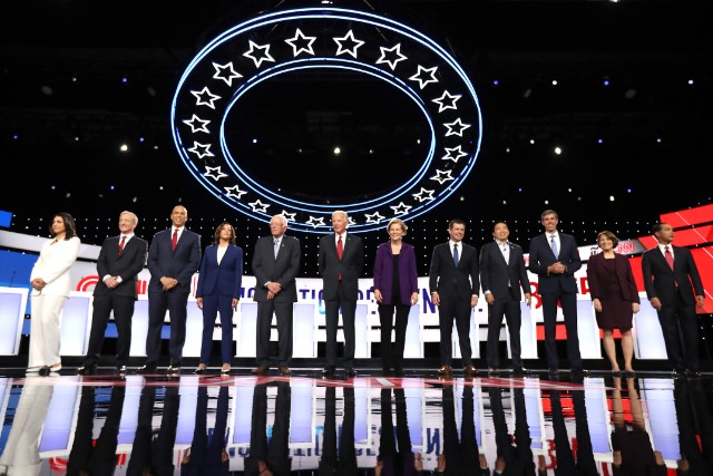 Candidates for the fourth Democratic presidential debate