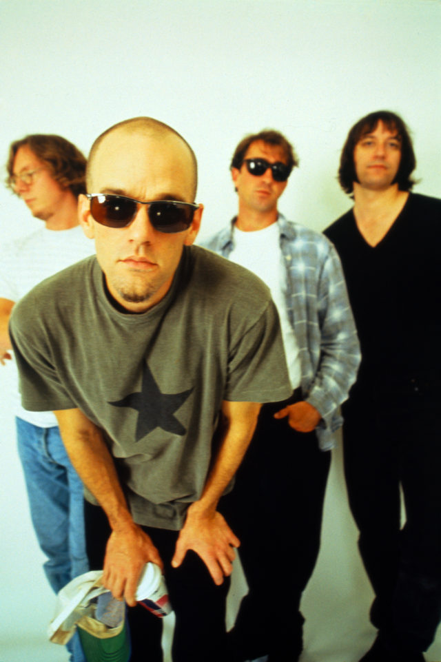 Mike Mills, Michael Stipe, Bill Berry and Peter Buck of R.E.M.
