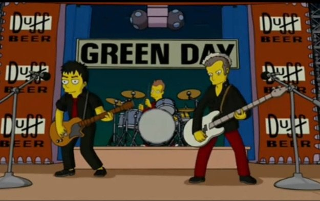 Green Day in The Simpsons Movie