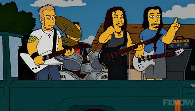 Metallica on The Simpsons