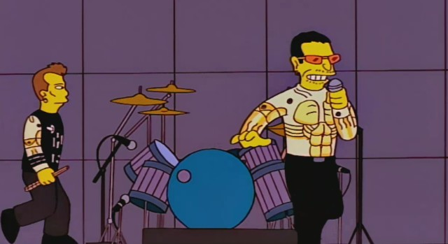 Bono of U2 on The Simpsons
