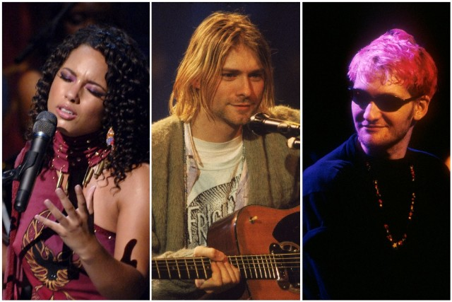 Alicia Keys, Kurt Cobain, Layne Staley on MTV Unplugged