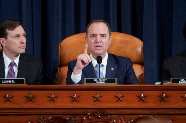 Adam Schiff brands Trump a 'charlatan' during fiery speech in California