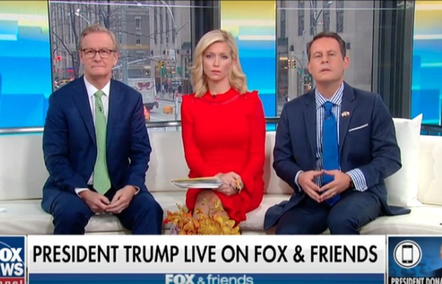 Fox & Friends Hosts Listen to Donald Trump Ramble