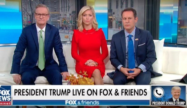 Trump Calls 'Fox & Friends' to Complain About Impeachment Hearings