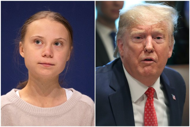 Greta Thunberg and Donald Trump