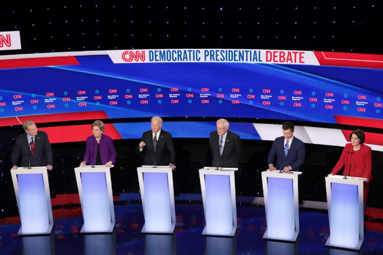 Democratic Presidential Debate, January 14, 2020, in Des Moines, Iowa