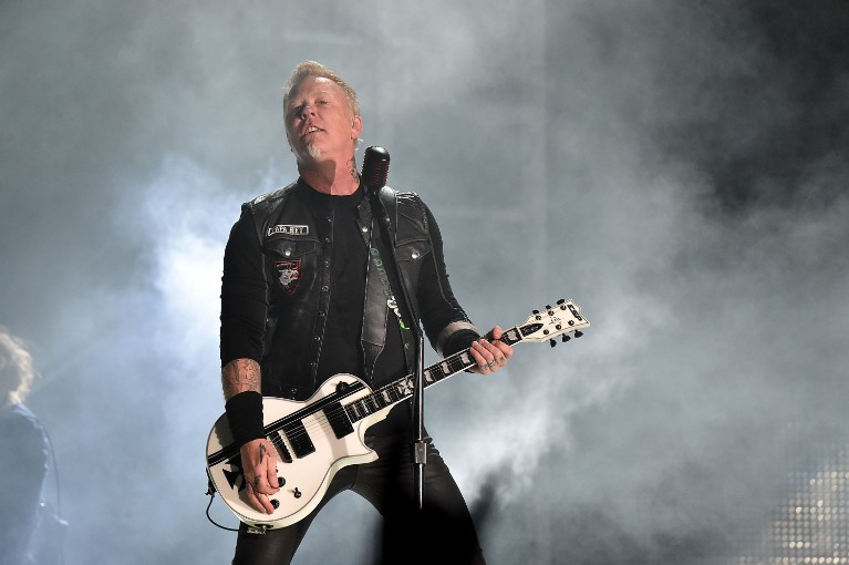 Metallica's James Hetfield in concert