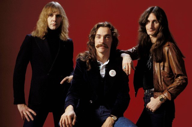 Photo of Neil PEART and RUSH and Alex LIFESON and Geddy LEE