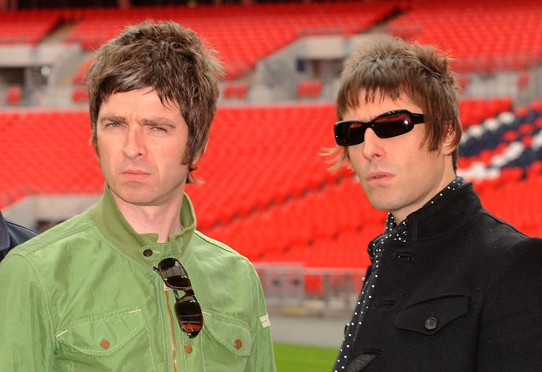 Noel Gallagher and Liam Gallagher of Oasis