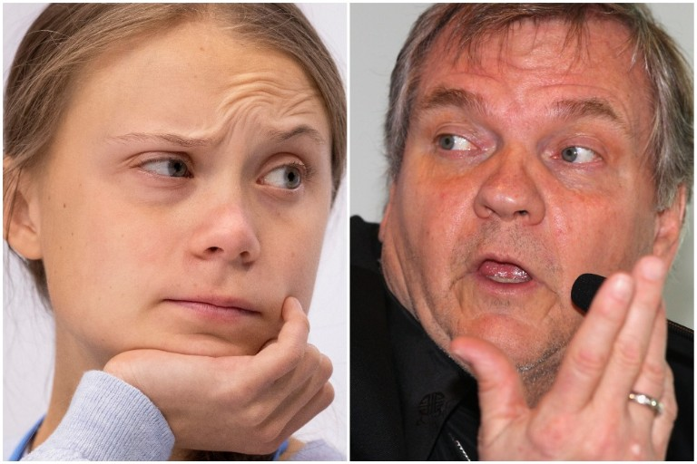 Greta Thunberg Responds to Meat Loaf's Climate Change Denial