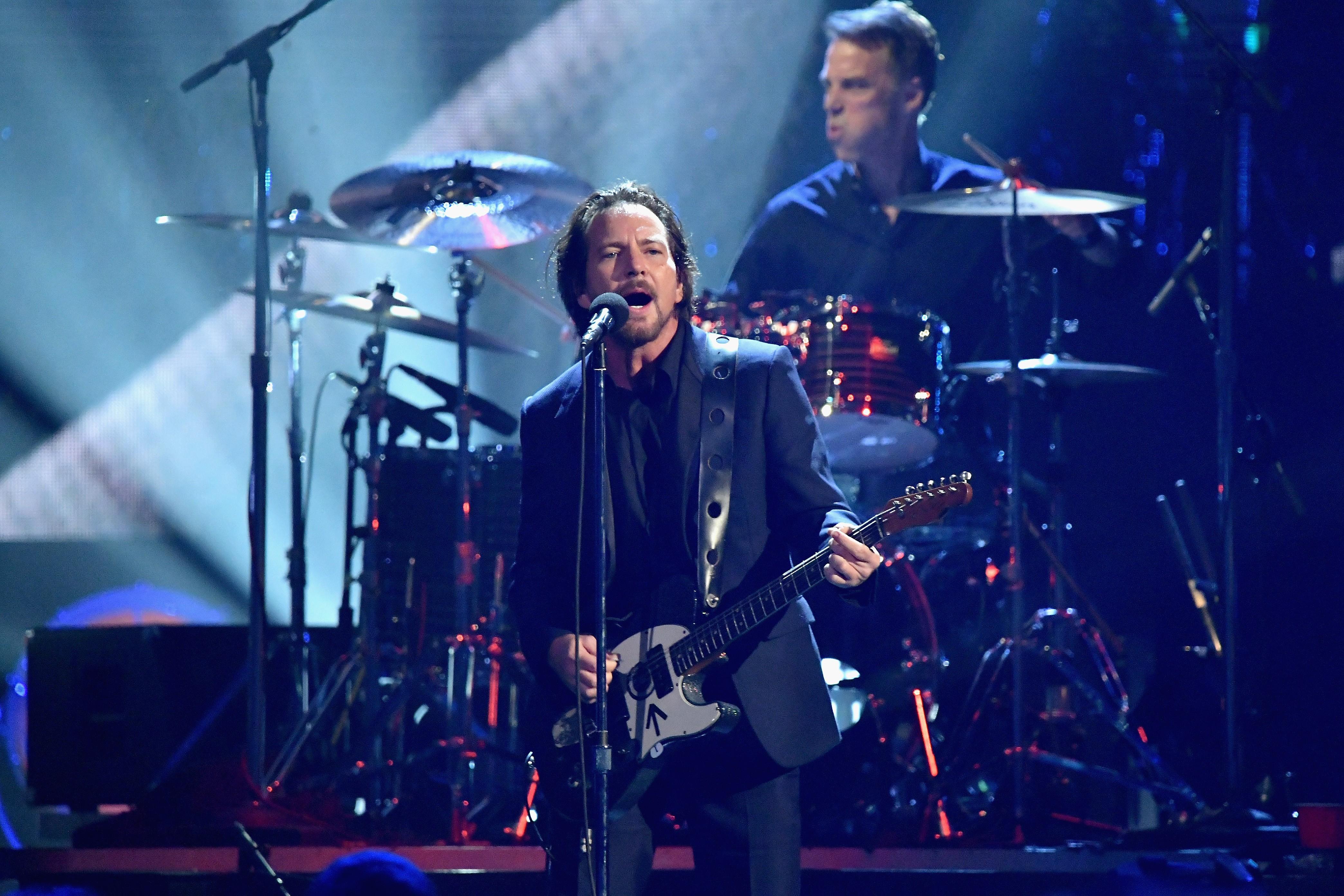 Pearl Jam performing in 2017