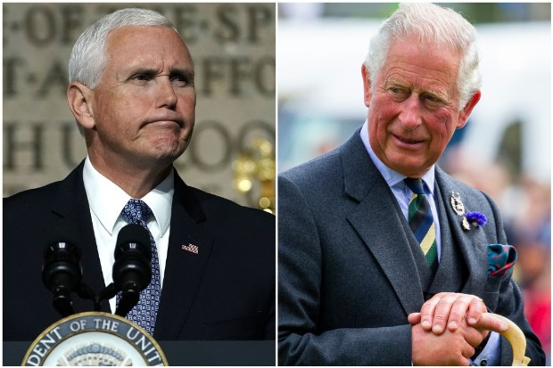 Mike Pence Looks Upset After Prince Charles Refuses to Shake His Hand
