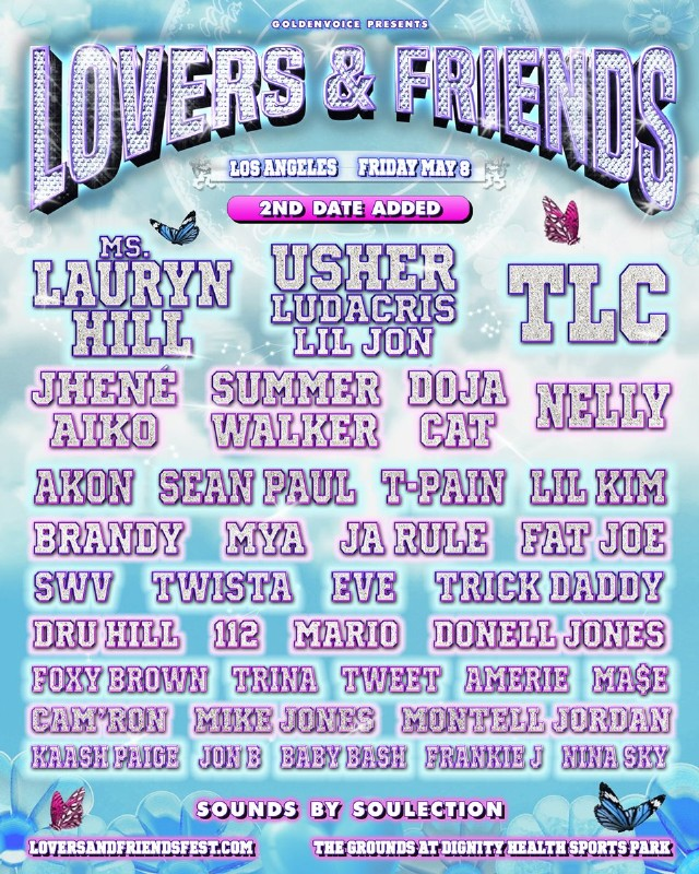 Lovers & Friends Day 2 Lineup