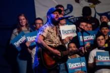 Bon Iver Iowa Sanders Raly