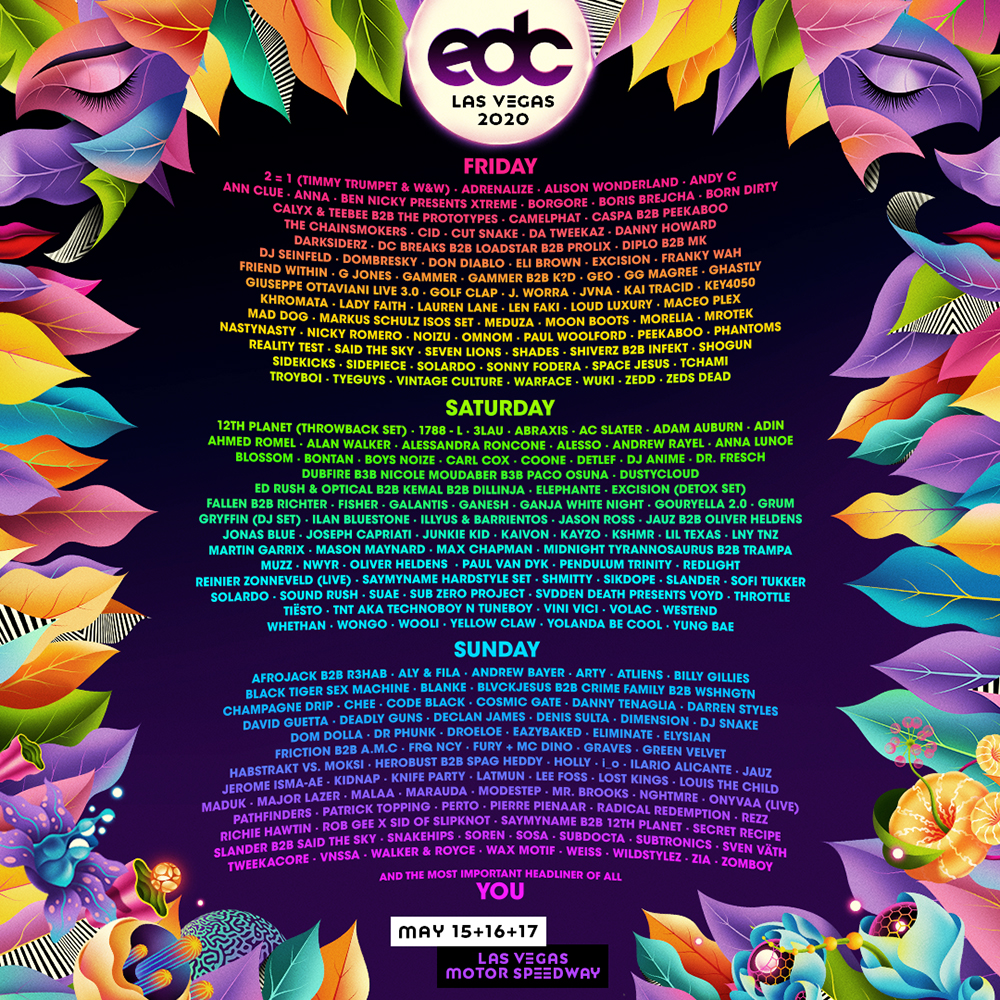 Electric Daisy Carnival 2020 lineup