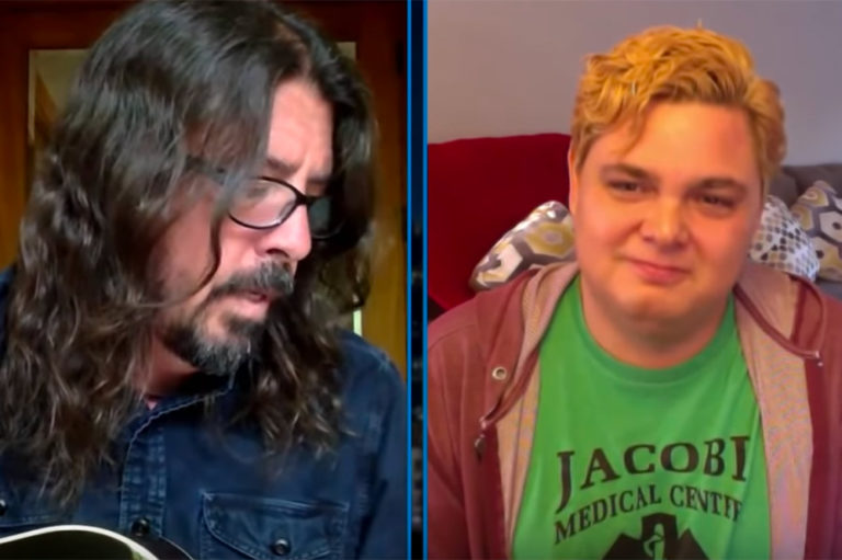 Dave Grohl TJ Riley on Jimmy Kimmel