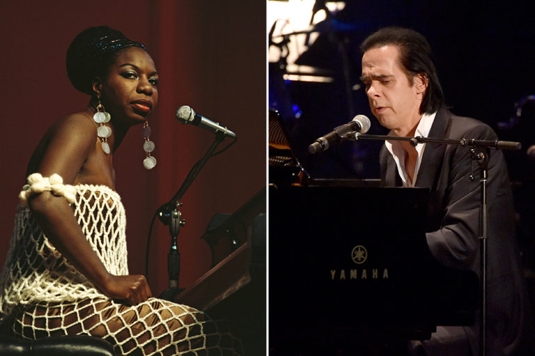 Nina Simone and Nick Cave Sitting at Pianos