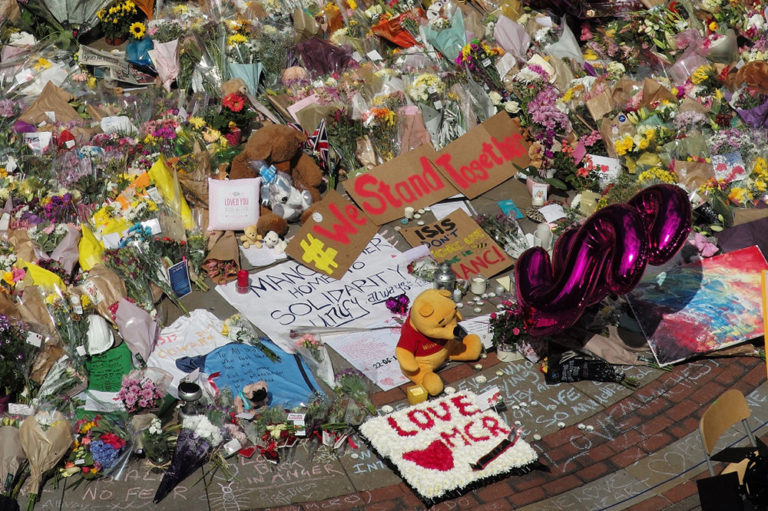 Vigil following Manchester Bombing in 2017