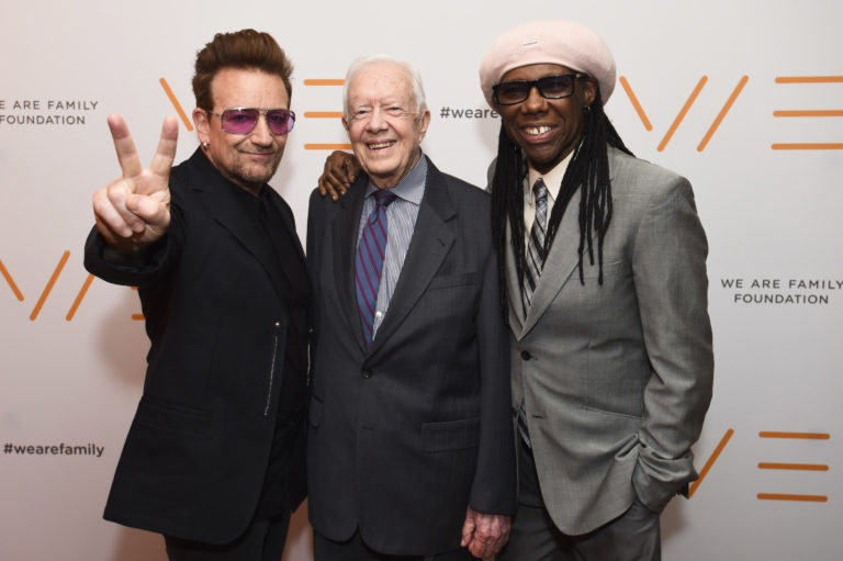Bono Nile Rodgers Jimmy Carter