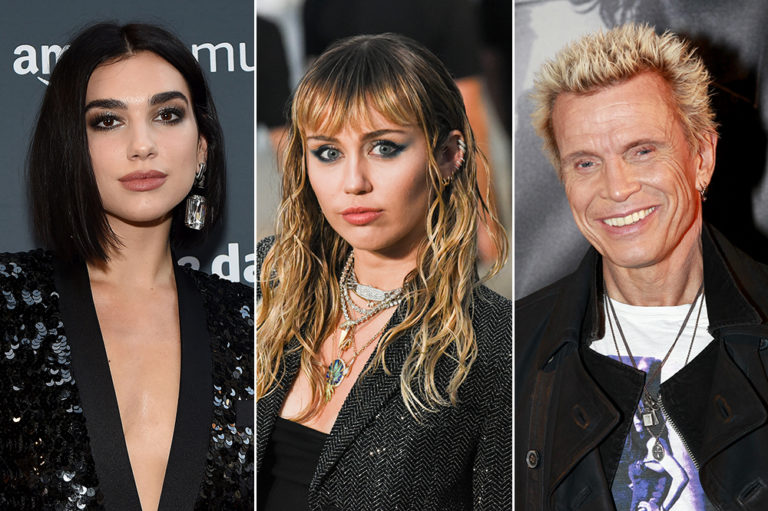 Dua Lipa Miley Cyrus Billy Idol