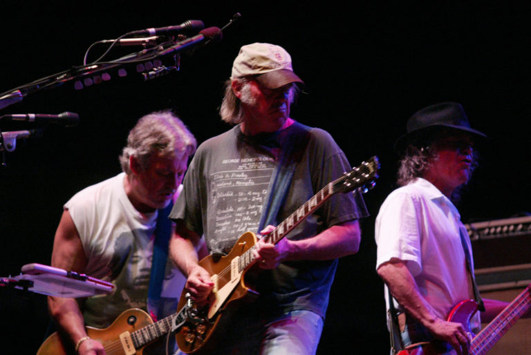 Canadian Neil Young plays in Hong Kong Harbour Fest at Timar Site.  06 November 2003