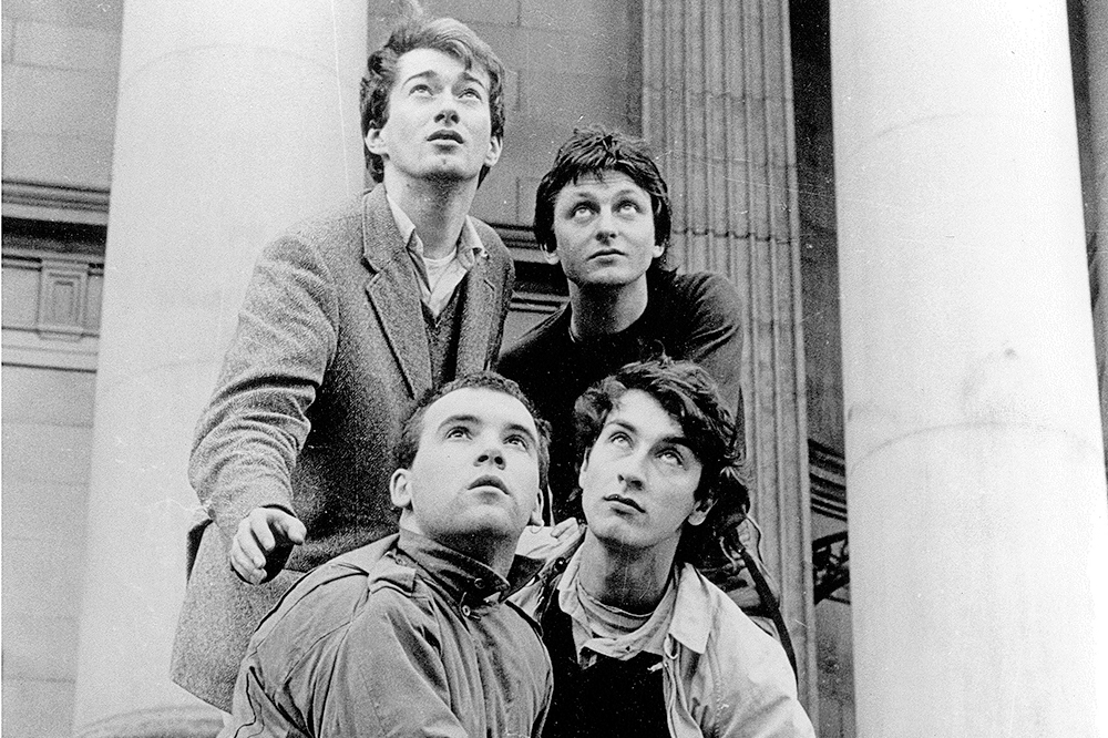 Gang of Four Portrait in front of the Leeds Town Hall