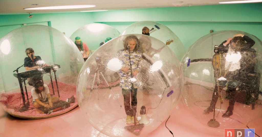 Flaming Lips Perform 'Tiny Desk' Concert In Their Signature Bubbles