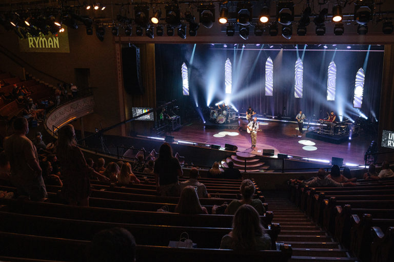 View of Crowd from a Concert at the Ryman in nashville