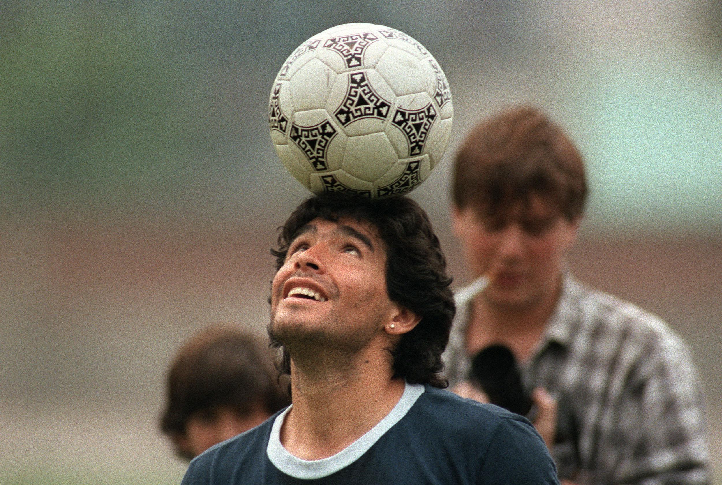Argentine soccer star Diego Maradona, we