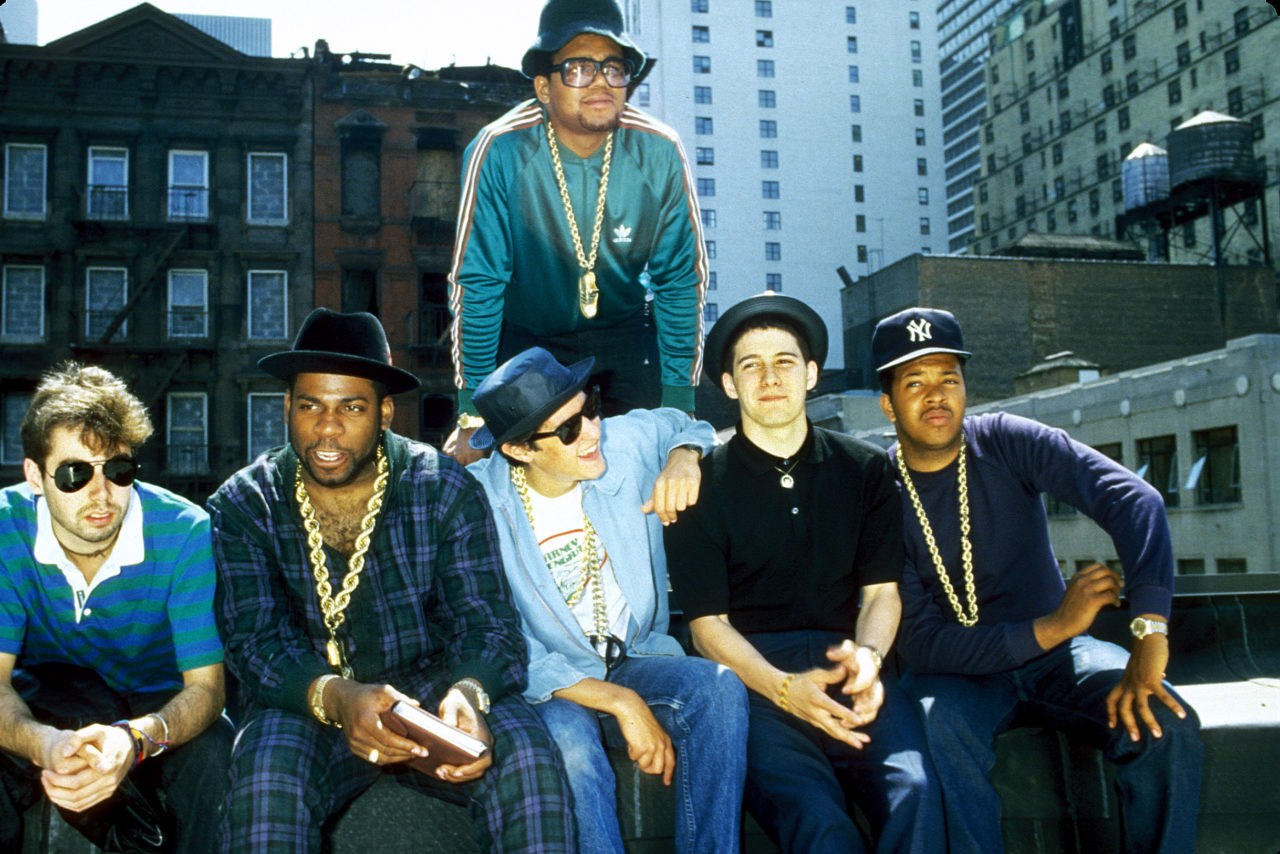 Run DMC and The Beastie Boys on a rooftop in Hell's Kitchen, NYC announcing a Co-headlining tour in the summer of 1985