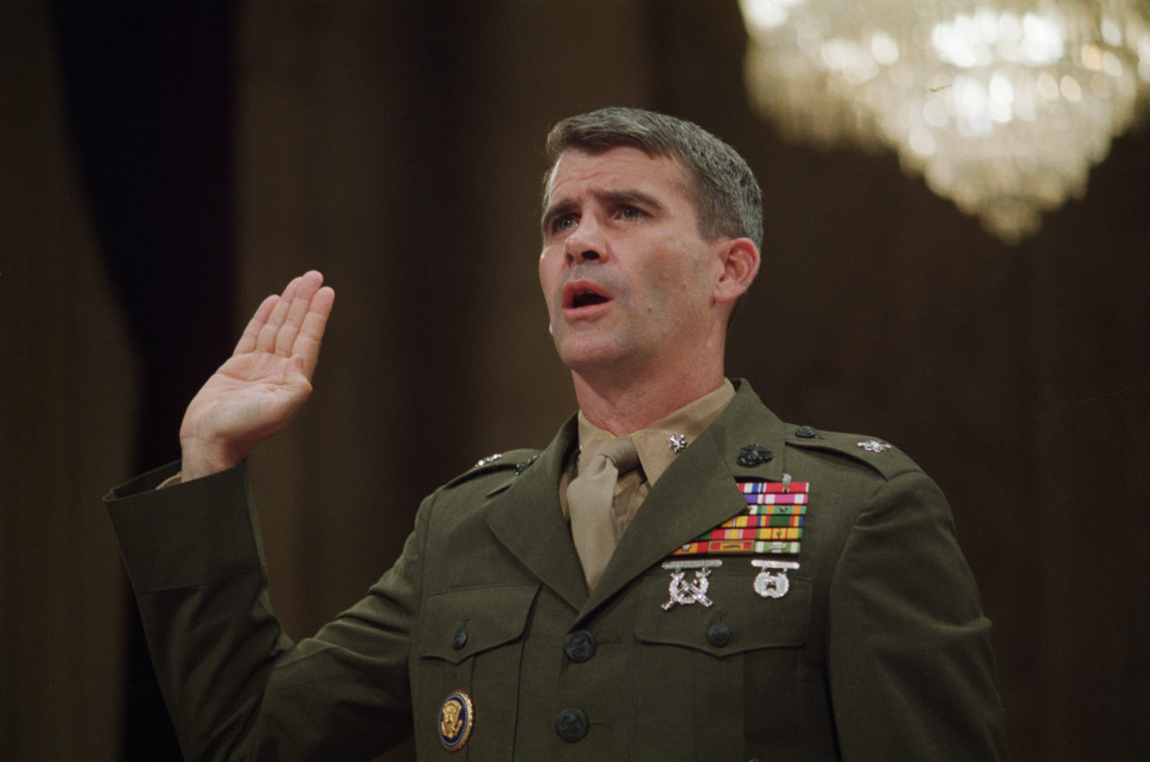 Oliver North Being Sworn In