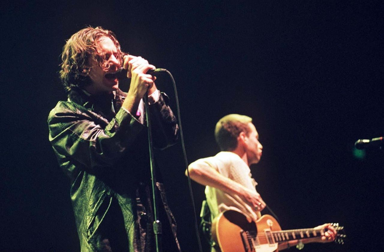 Pearl Jam Pop Performing At Wembley Arena In London, Britain - 1996