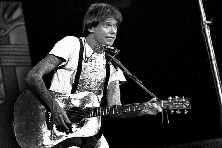Neil Young at a show in 1978