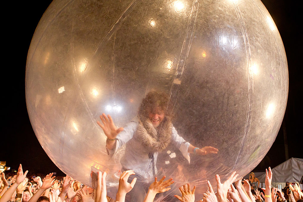 You need to see the 'bubble concert' the Flaming Lips just pulled off