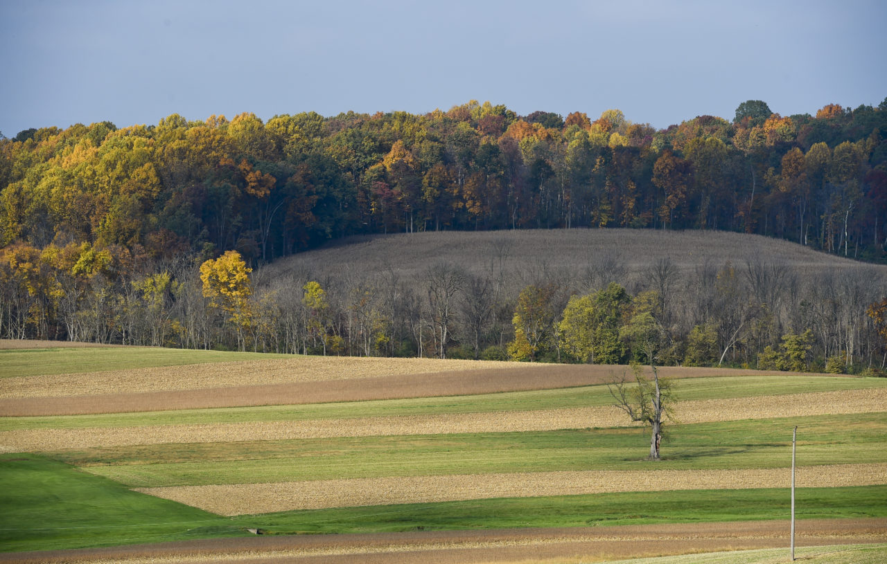 Autumn Scene In Rural Pennsylvania Farmland
