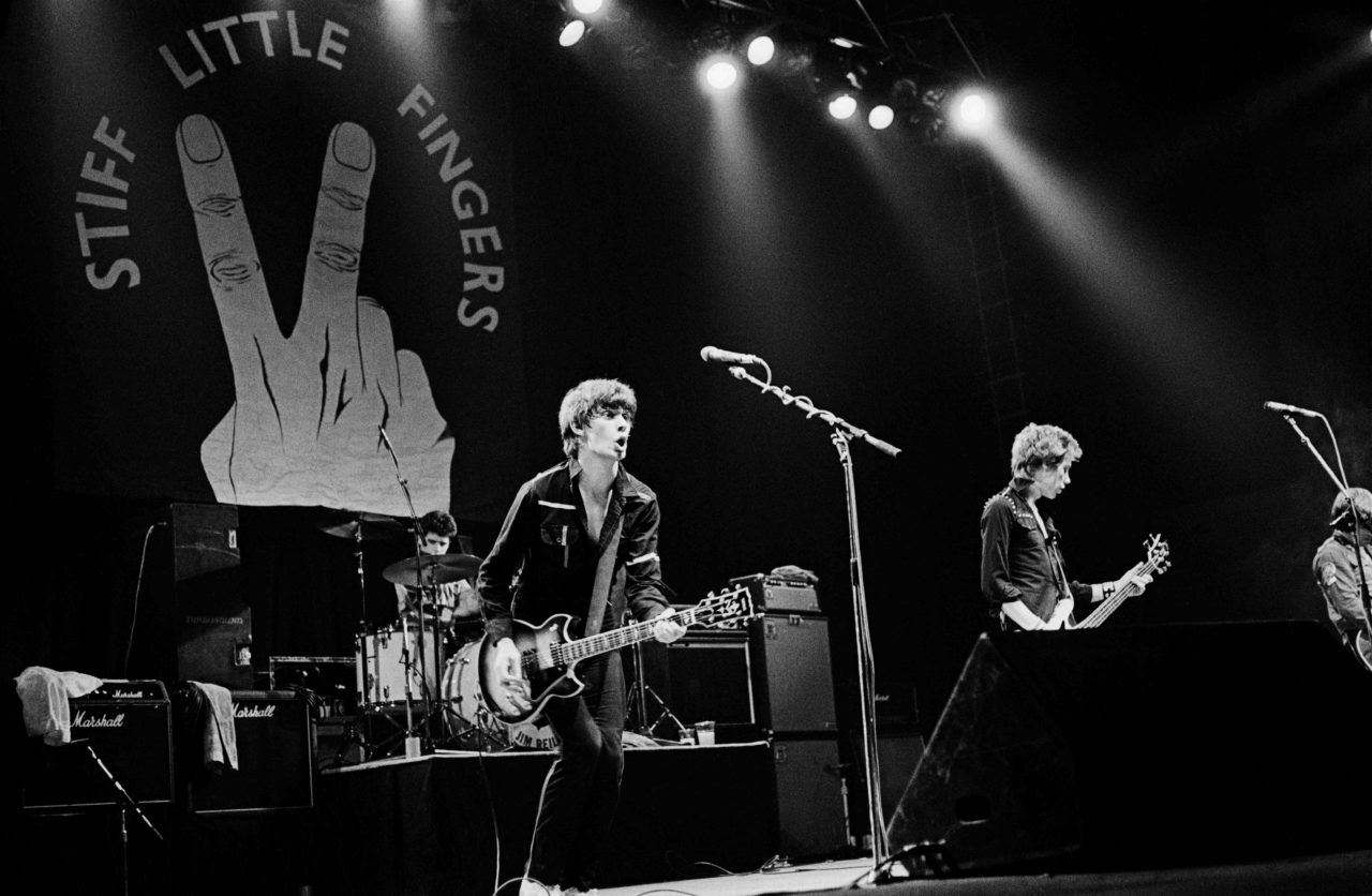 Photo of STIFF LITTLE FINGERS and Jim REILLY and Jake BURNS and Ali McMORDIE and Henry CLUNEY