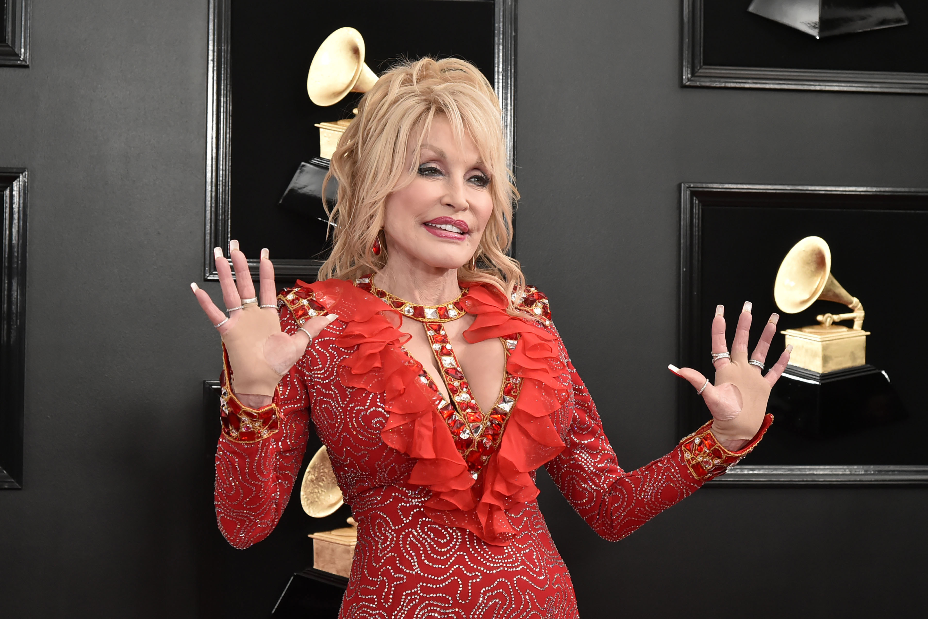 Dolly Parton 61st Annual Grammy Awards - Arrivals