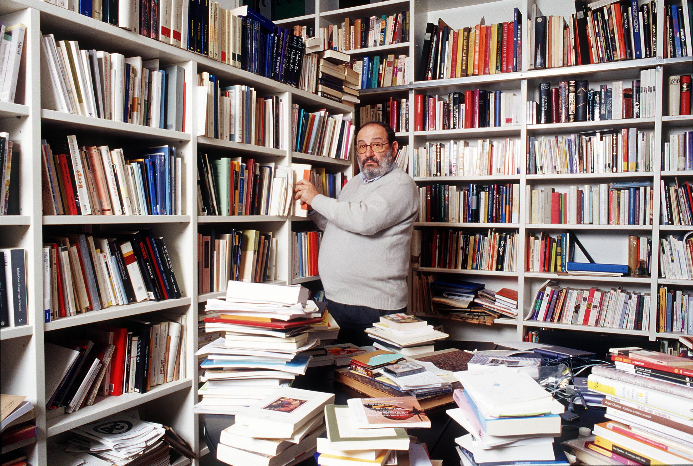 Umberto Eco Italian Semiologist Writer Philosopher Essayist And Professor