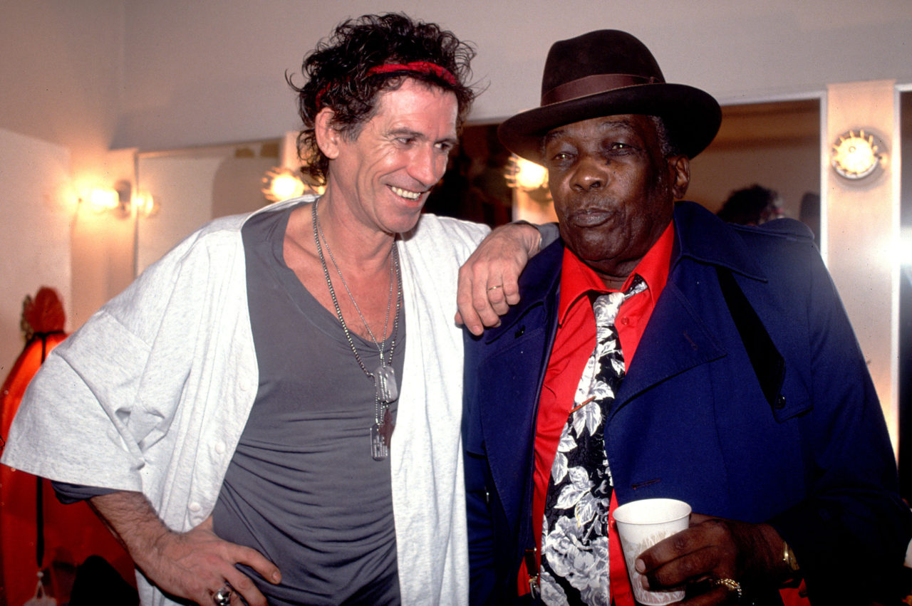 Keith Richards & John Lee Hooker Backstage