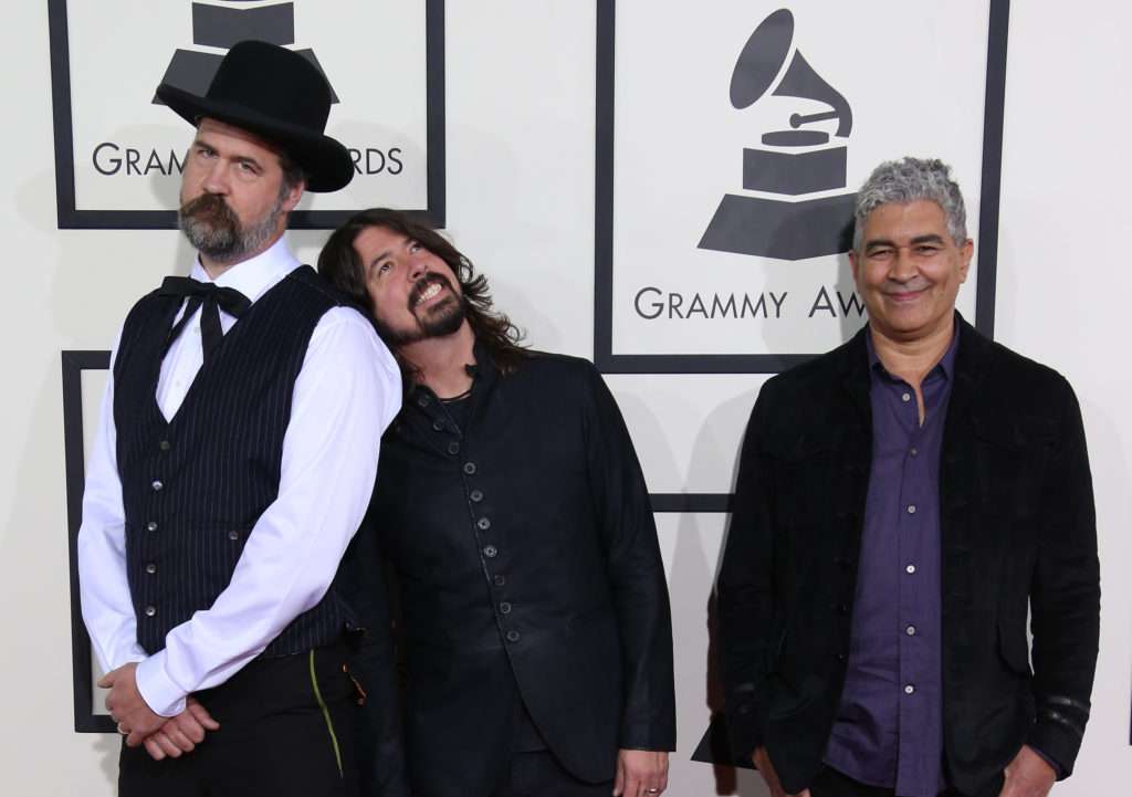 Ex-Nirvana Members Dave Grohl Krist Novoselic and Pat Smear Still Jam Together