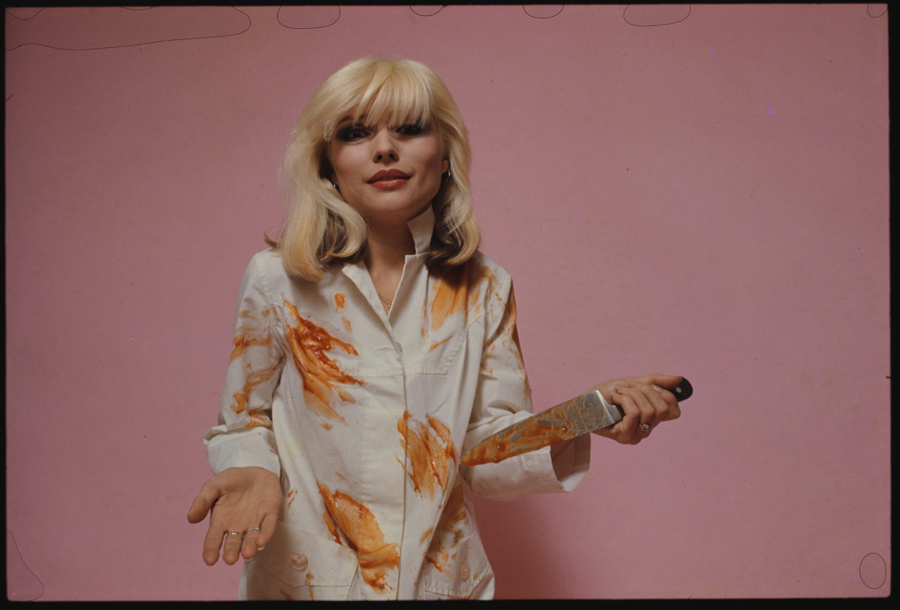 Debbie Harry with a Knife