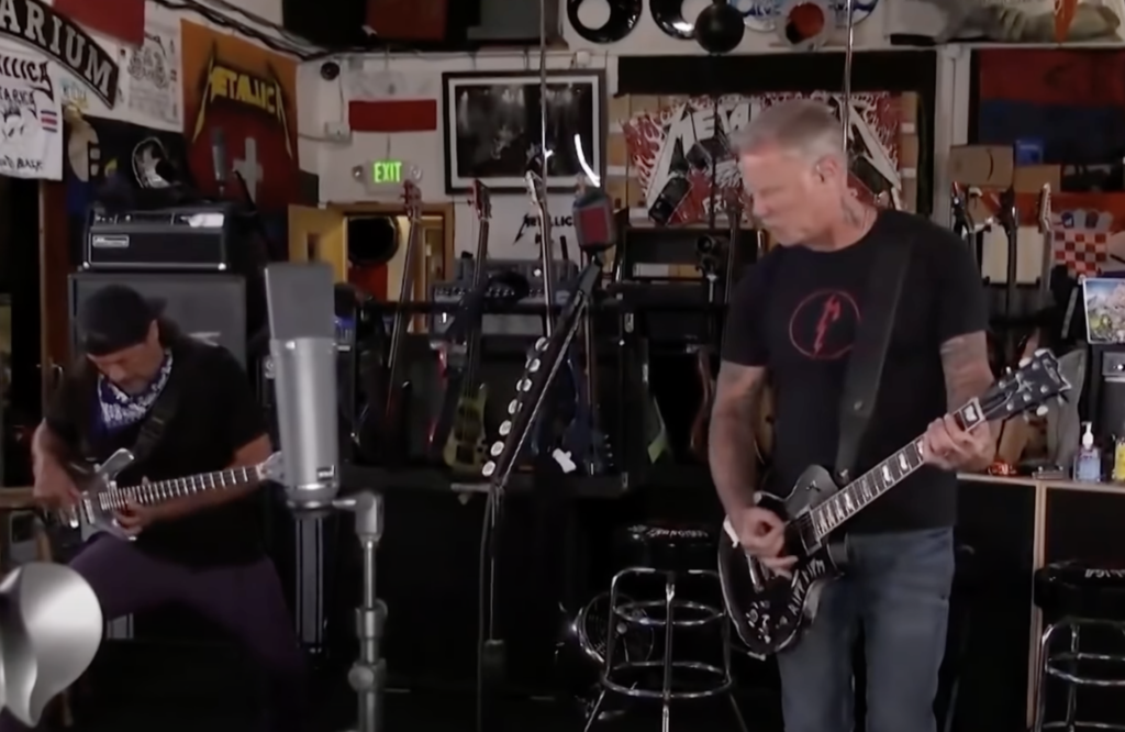 Metallica's livestream was accidentally censored in the most hilarious way