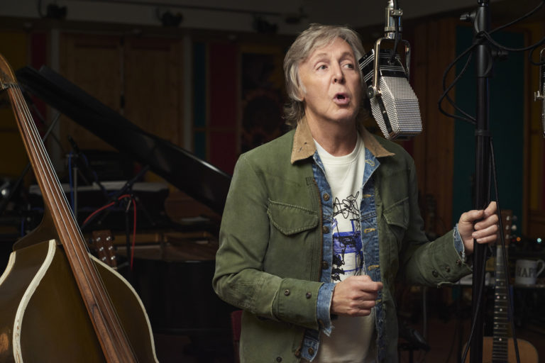 Paul McCartney in the studio